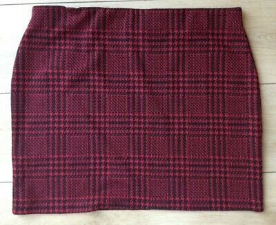 £6 • Buy Red & Black Checked Skirt UK Size 18 NEW LOOK Excellent Condition