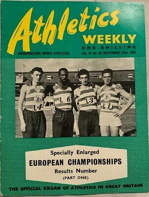 £1.99 • Buy ATHLETICS WEEKLY THE ATHLETES MAGAZINE Sept 22nd '62 Vol 16 No 38 GOOD CONDITION