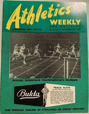 £1.99 • Buy ATHLETICS WEEKLY THE ATHLETES MAGAZINE Sept 29th '62 Vol 16 No 39 GOOD CONDITION