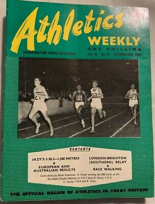 £1.99 • Buy ATHLETICS WEEKLY THE ATHLETES MAGAZINE Oct 20th '62 Vol 16 No 42 GOOD CONDITION