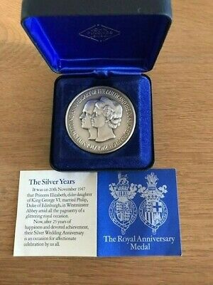 £85 • Buy The Royal Anniversary Medal By John Pinches - Box And Certificate