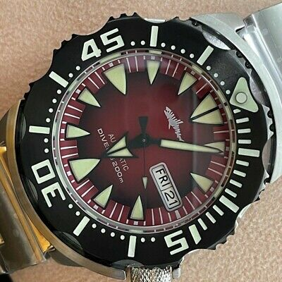 $ CDN303.29 • Buy Sharkey Special Edition Monster Dive Watch Seiko SII NH36A Movement Sapphire C3