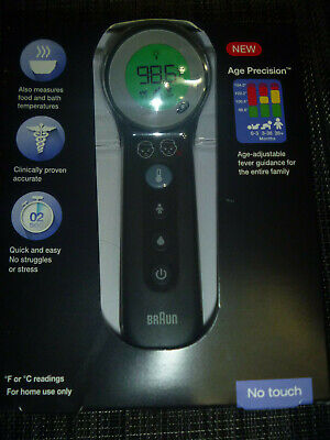 $ CDN21.74 • Buy NEW Braun 3-in-1 No Touch Forehead Thermometer Black BNT400