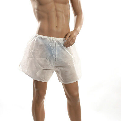 £4.25 • Buy NEW S Mens Spray Tan See Through White Disposable Boxer Shorts Underwear INT.422