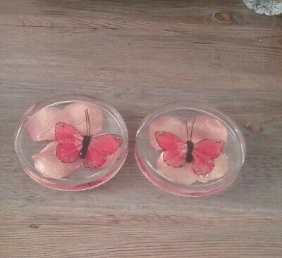 £2.80 • Buy Resin Clear Beautiful Butterfly Coasters