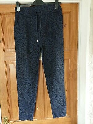 £9.99 • Buy Made In Italy , Navy Animal Print Patterned ' Magic Trousers' Size 12-16
