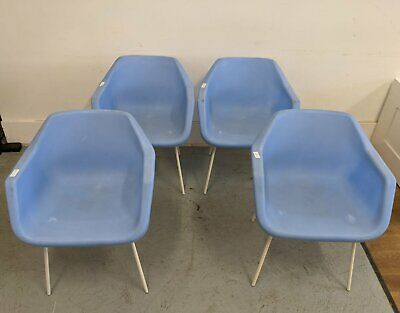 £80 • Buy 4 X Pale Blue Robin Day/Hille Armchairs, Polypropylene - 186098/186099/186100/18