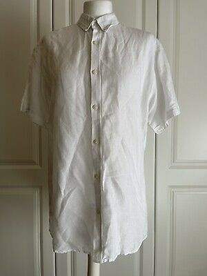 £3.50 • Buy Size L Mens Selected White Summer Shirt