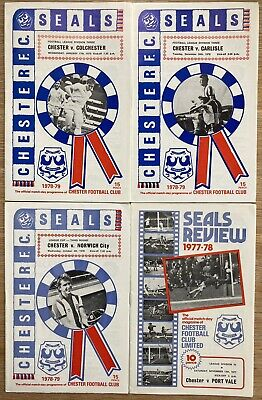 £2 • Buy Chester F.C. Home Programmes X 4 1977-79