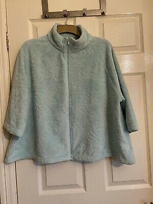 £15 • Buy Worn Once - Slenderella Soft & Cosy Zip Front Bed Jacket XL 3/4 Sleeve Turquoise