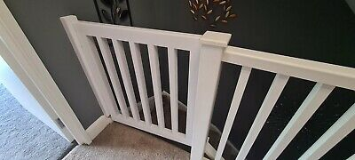 £139 • Buy Wooden Baby Stair Gate Pet Gate Includes Hinges & Latch Bespoke
