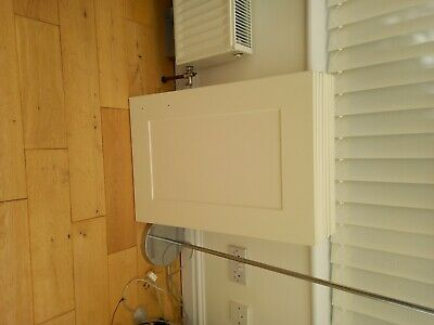 £20 • Buy B & Q Ivory Kitchen Cupboard Doors With Handles Used.