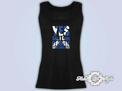 £10.99 • Buy Vest Top Tank YES SIR I CAN BOOGIE!  - Scotland Euro 2021 T-shirt Female Black