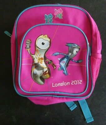 £7.25 • Buy Kids Official London Olympics 2012 Backpack - Pink And Blue