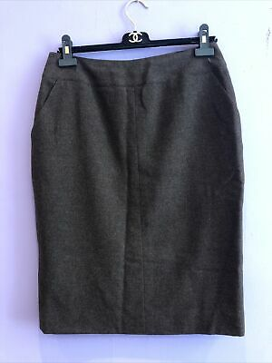 £50 • Buy Chanel - Brown 100% Cashmere Silk Lined Skirt - 42