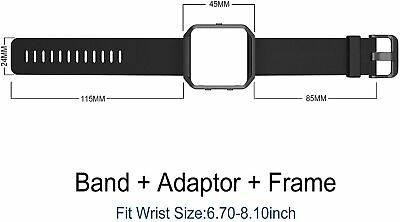 AU36.78 • Buy Fitbit Blaze Smart Fitness Watch Large Silicone Replacement Band Meatl Frame