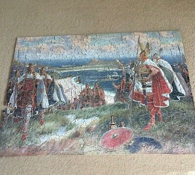 £7.49 • Buy Vintage Chad Valley GWR Old Wooden Jigsaw Puzzle Vikings Landing At St Ives