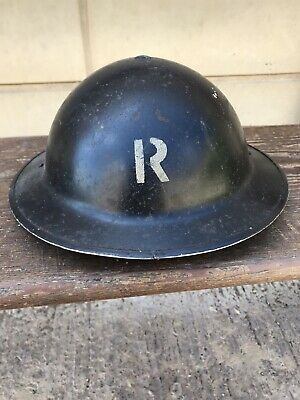 £23 • Buy Rare Vintage Military Army Reserve Steel Bowl Helmet With Initial. Man Cave