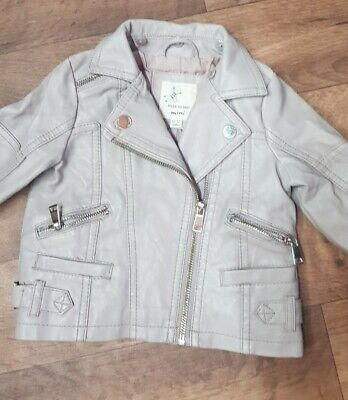 £0.99 • Buy Girls River Island Faux Leather Jacket - Size 9-12Mths