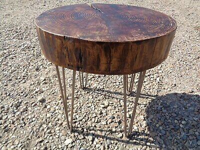 £15 • Buy Circular Tree Trunk Slice Coffee Table  Round Tree Trunk Section Table Paperclip
