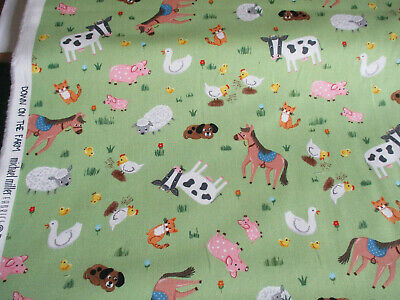 £4.25 • Buy Fat 1/4 Michael Miller Down On The Farm Childs 100% Cotton Quilting Fabric