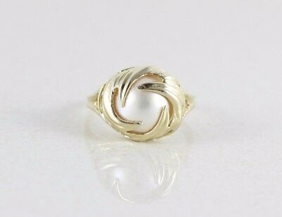 $382.50 • Buy 10k Yellow Gold Mabe Pearl Ring Size 6 3/4