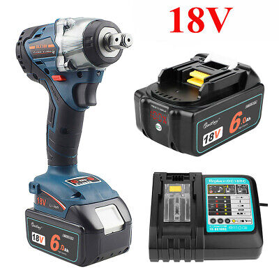 £20.99 • Buy 18V Cordless Brushless Impact Wrench For Makita DTW285Z / 6.0Ah Battery /Charger