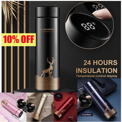 AU21.43 • Buy Insulated Travel Coffee Mug Cup Thermal Flask Vacuum Thermos Stainless Steel AU-