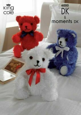 £3.94 • Buy Toy Knitting Patterns~6000 Childs Teddy Bear Double Knit MOMENTS KING COLE