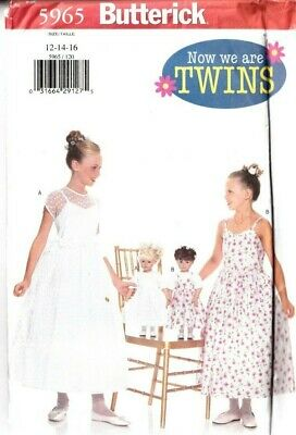 £10.99 • Buy Butterick Sewing Pattern 5965 Girls Dress Age 12-16 Bridesmaid 18  Dolls Clothes