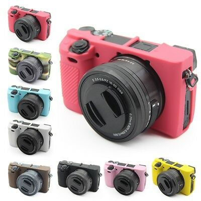 $ CDN11.32 • Buy For Sony Alpha A6100 A6300 A6400 Silicone Skin Case Soft Protective Cover
