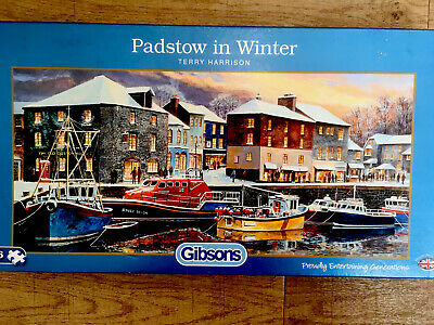 £4.50 • Buy Gibsons 636 Piece Jigsaw - Padstow In Winter By Terry Harrison - VGC Complete