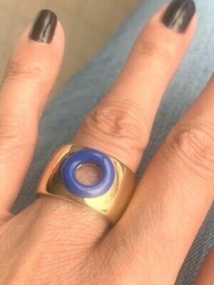 £38.94 • Buy Marc Jacobs Gold And Blue Ring