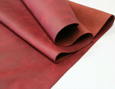 £39.75 • Buy RED DISTRESSED LEATHER HIDE Thickness 1.6-1.8 Mm/ 4 Oz - 4.5oz - 9 SqFt