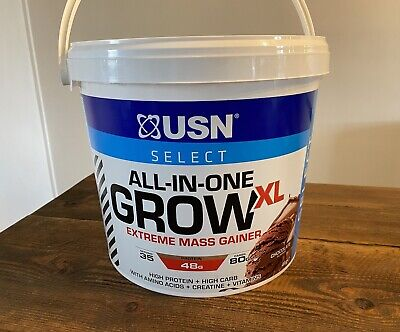 £49.99 • Buy USN All In One Grow XL Extreme Mass Gainer Protein 4kg Chocolate RRP 79.99