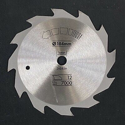 £10.99 • Buy 184mm X 16mm 12T TCT Rip Cutting Circular Saw Blade For Wood. Made In The EU