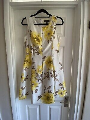 £15 • Buy Jessica Howard Yellow Floral Dress - Size 10
