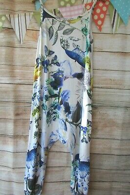 £1.99 • Buy Girls Blue Butterfly Floral Playsuit Jumpsuit Dungarees Age 4 NEXT VGC