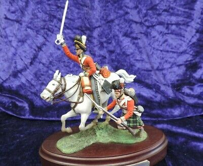 £100 • Buy Chas Stadden Hand Painted Mounted Group British Dragoon 92nd Highland Foot 1815