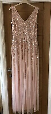 £50 • Buy Prom / Bridesmaid Sequin Maxi Dress Size 12 From Quiz New With Tag