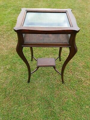 £70 • Buy Mahogany Victorian, Bijoutery Display Table, Cabriole Legs, Bevelled Glass Top.