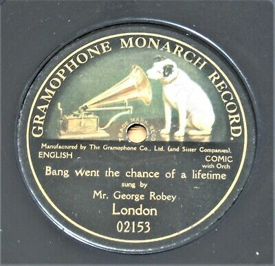 £10 • Buy GEORGE ROBEY 78RPM GRAMOPHONE RECORDS X 2