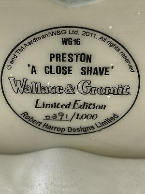£120 • Buy Wallace & Gromit Limited Edition Preston A Close Shave Un Boxed
