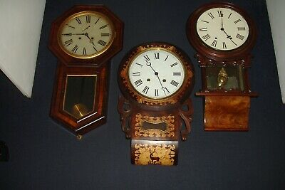 £200 • Buy 3 Antique American Wall Clocks  For Sale