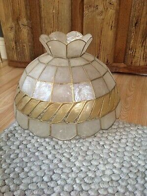 £55 • Buy Vintage Capiz Shell Lampshade With Topper