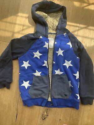 £3.50 • Buy Mini Boden Boys Star Print Shaggy Lined Hoodie 9-10 Years