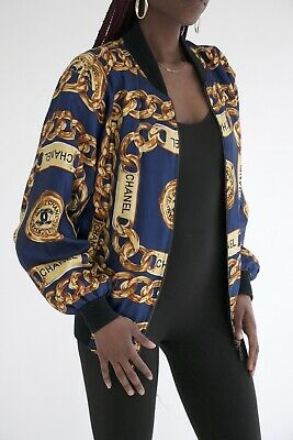 £371.69 • Buy Chanel Boutique Gold Chains Bomber Jacket