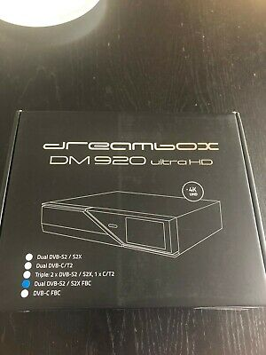 £250 • Buy Dreambox Dm920 4k E2 Linux DVB CT/T2- Cable Twin Tuner 500gb Hdd