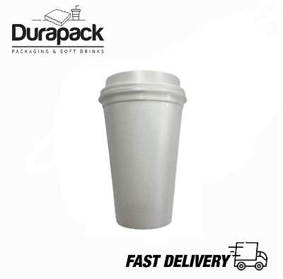 £4.99 • Buy Disposable Foam Cups Polystyrene Coffee Tea For Hot Drinks 7oz With Lids