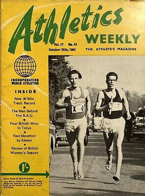 £2.99 • Buy ATHLETICS WEEKLY THE ATHLETES MAGAZINE Oct 26th 63 Vol 17 No 43 GOOD CONDITION